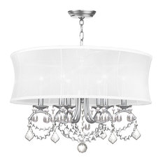 Newcastle 6 Light Chandelier in Brushed Nickel