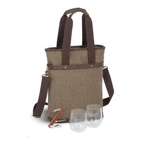 Omega Double Bottle Bag, Brown