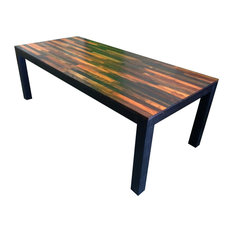 "Handmade Weathered Wood Dining Table, 78""x36"""