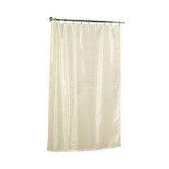 Extra Long 78 Polyester Fabric Shower Curtain Liner In Ivory