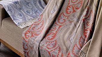Cristallo Throw in Cashmere and Silk