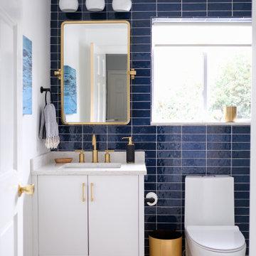 Bold Blue Guest Bath