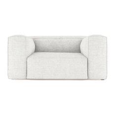 Varick 6' Crushed Velvet Sofa Alabaster Classic Depth