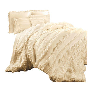Ruffle Diamond 3 Piece Comforter Set