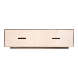 PIX TV Stand, Pebble Grey and White