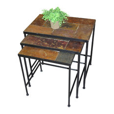 4D Concepts   3 Piece Nesting Tables With Slate Tops   Side Tables And End  Tables