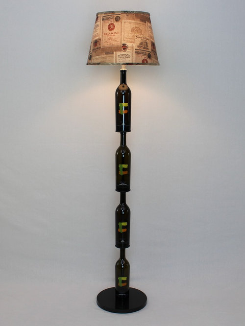 Wine bottle floor and table lamps very unique wine bottle floor lamp floor lamps aloadofball Choice Image