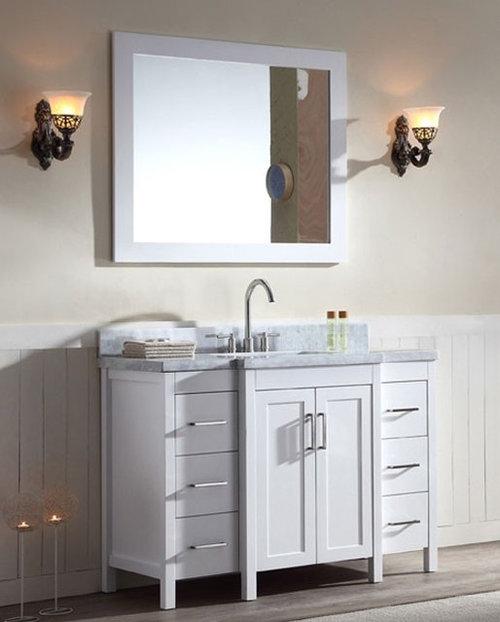 Transitional Bathroom Vanities With Tops