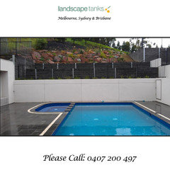 Retaining Walls Garden Beds Water Tanks All In One Brilliant Houzz Au
