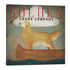 """Golden Dog Canoe Co. Gallery"" by Ryan Fowler, 37x37x1.5"""