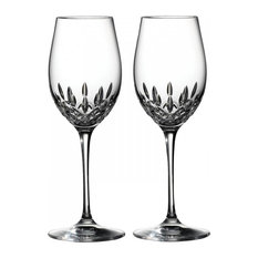 Waterford - Waterford Crystal Lismore Essence White Wine Glass, Set of 2 - Wine Glasses