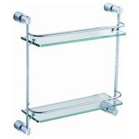 Fresca Magnifico 2 Tier Glass Shelf, Chrome