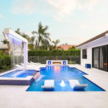 Custom Pool and Backyard in Boca Raton