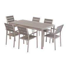 Vernio Aluminium and Polywood Outdoor Dining 7-Piece Set