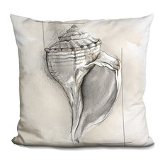 Shell Schematic I Decorative Accent Throw Pillow