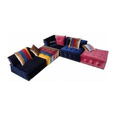 VIG Furniture, Divani Casa Dubai Contemporary Fabric Sectional Sofa