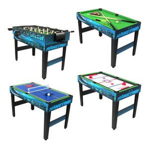 Sunnydaze Multi-Game 10-in-1 Kids Game Table, Billiards Foosball Hockey Pool