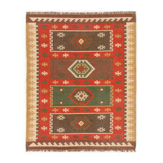 Jaipur Living Amman Handmade Geometric Red/Gold Area Rug, 8'x10'