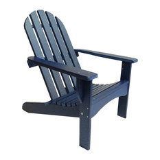 Poly Adirondack Chair Casual Design, Deep Blue