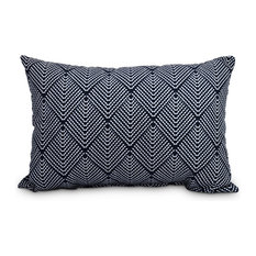 "Lifeflor 14""x20"" Abstract Decorative Outdoor Pillow, Navy Blue"