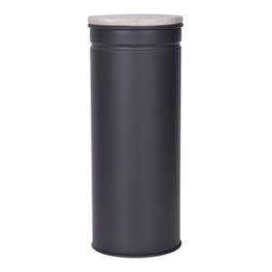 Brompton Spaghetti Canister in Chalk Steel and Marble, Also Avaiable in Carbon S