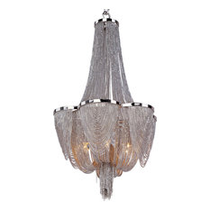 Chantilly 6-Light Chandelier, Polished Nickel