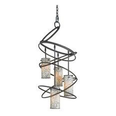 Woodbridge Lighting Loop Pendant Chandelier, 4-Light, Mosaic White