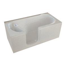 MediTub Step-In 30 x 60 Left Drain White Soaking Step-In Bathtub