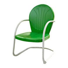 Griffith Metal Chair, Grasshopper Green Finish