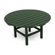 """Polywood Round 38"""" Conversation Table, Green"""