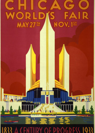 Chicago World's Fair, A Century of Progress, Expo Poster 1933