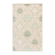 Jaipur Living Glamourous Damask Beige/Green Area Rug, 2'x3'