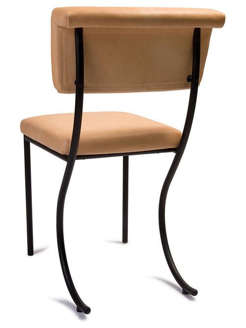 Tivoli Stol Läder, Svart/Natur - Spisebordsstole