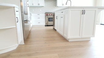 Light Hardwood Project | Kitchen, Living Room, Staircase & Entry