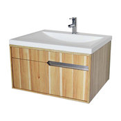 """DecoLav 1801 Cityscape 29-19/32"""" Wall Mounted / Floating Vanity - Hickory"""