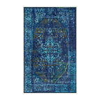 Machine Made Jizah Gz01 Rug, Blue, 8