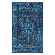 Machine Made Jizah Rug, Blue, 8'x10'
