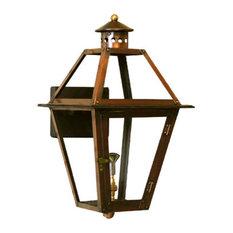 "French Quarter Copper Lantern, Wall Mount, Brown, 24"", Propane"
