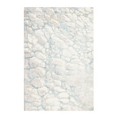 Studio Seven Hand Loomed Area Rug, MIR722G, Turquoise/Ivory,  6' X 9'