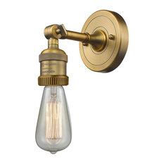 Innovations Bare Bulb 1-Light Sconce, Brushed Brass