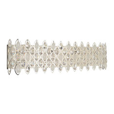 Allegri Prive 8 Light Vanity Light, Silver, Firenze Clear