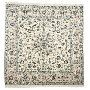 Nain 9La Persian Rug, Square Hand-Knotted Classic, 206x200 cm