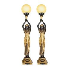 Egyptian Goddess of The Night Lamps, Set of 2