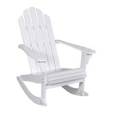 vidaXL Wood Rocking Chair, White