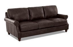 Avenue 405 Winston Leather Down Blend Oversized Sofa, Driftwood