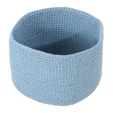 Moore Knitten Cotton Sundries Basket, Light Blue