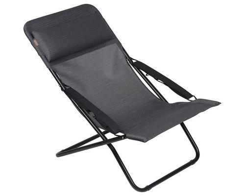 Transabed XL+ Solstol, Obsidian/Svart - Udendørs klapstole