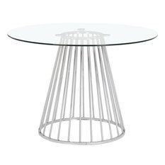 Gio Chrome Dining Table, Chrome Base