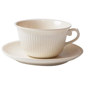 Faithful Coffee Cup With Saucer, Cream