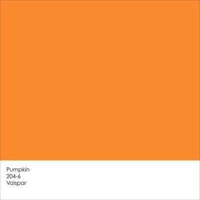 How To Paint An Orange Pumpkin White